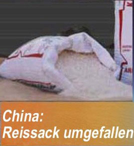 Reissack in China umgefallen